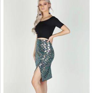 Blackmilk Velvet Mermaid Wrap Skirt